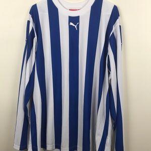 Men's Puma blue and white stripe sz XLarge shirt